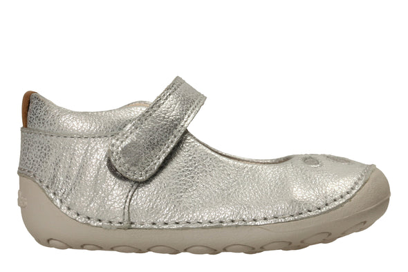 Clarks Tiny Eden Silver Leather