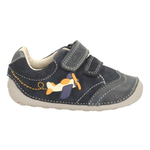 Clarks Tiny Liam Navy Leather