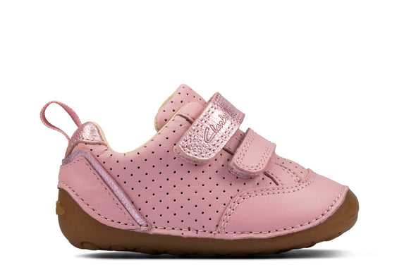 Clarks Tiny Sky T Light Pink Lea