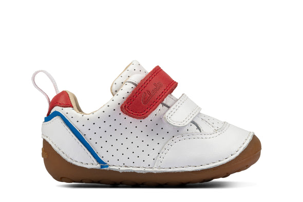 Clarks Tiny Sky T White Leather