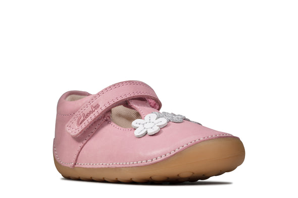 Clarks Tiny Sun T Pink Leather