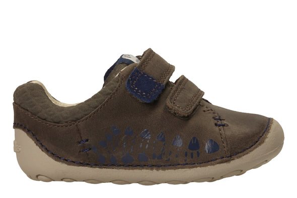 Clarks Tiny Trail Brown Leather