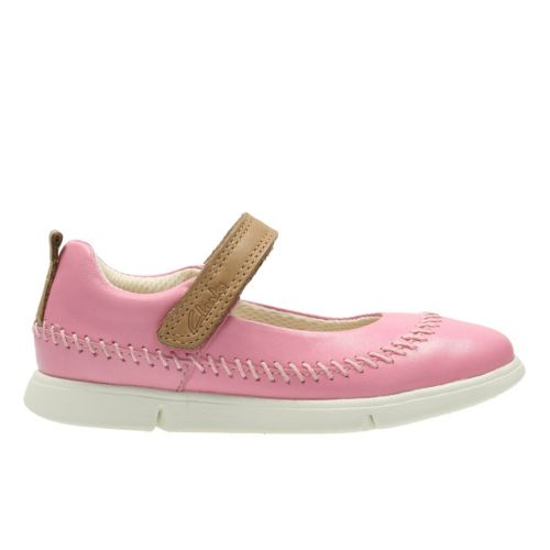 Clarks Tri Molly Inf Pink Leather