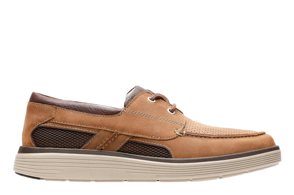 Clarks Un Abode Step Dark Tan Lea