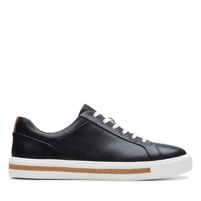 Clarks Un Maui Lace Black Leather