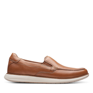 Clarks Un Pilot Step Tan Leather