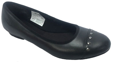 Clarks AbithaBela Jnr Black Leather