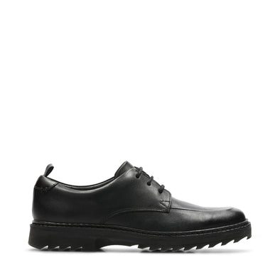 Clarks Asher Grove Black Leather