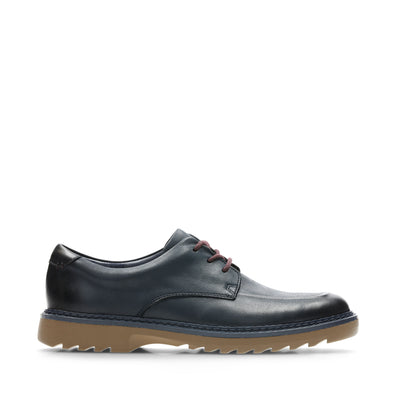 Clarks Asher Grove Blue Leather
