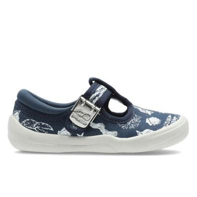 Clarks Briley Sky Fst Navy Canvas