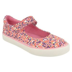 Clarks Brill Gem Inf Pink Canvas