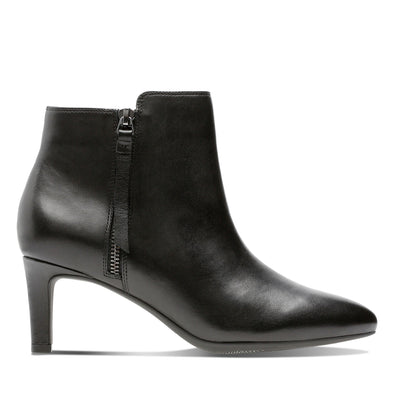 Clarks Calla Blossom Black Leather