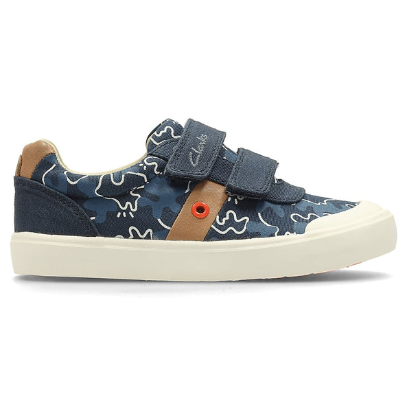 Clarks Comic Zone Inf Navy Canvas