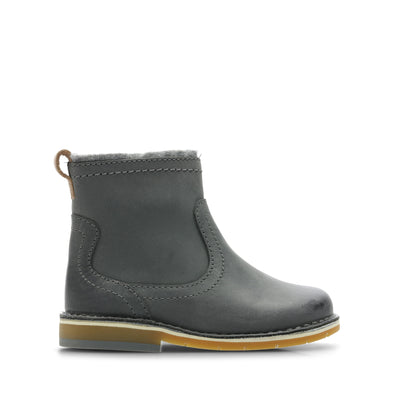 Clarks Comet Frost Grey Leather