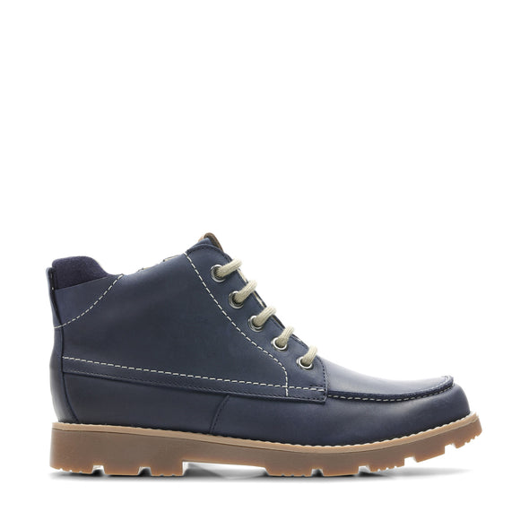 Clarks Comet MoonO Navy Leather