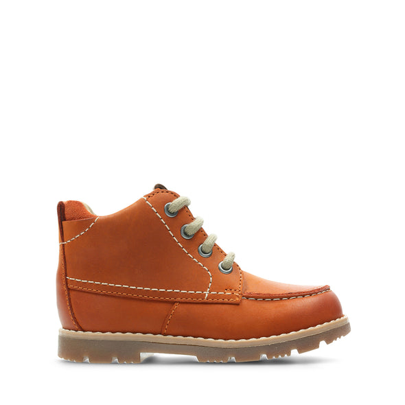 Clarks Comet Moon Orange Leather
