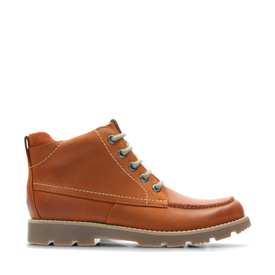 Clarks Comet MoonO Orange Leather