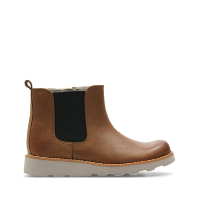 Clarks Crown Halo Tan Leather