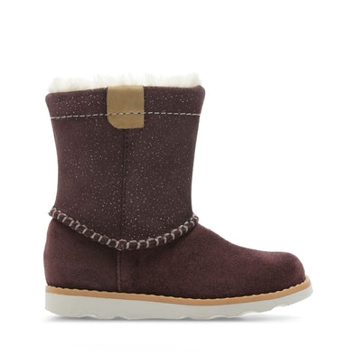 Clarks Crown Piper Burgundy Suede