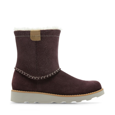 Clarks Crown PiperO Burgundy Suede