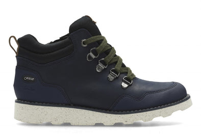 Clarks DexyHi GTX Jnr Navy Leather