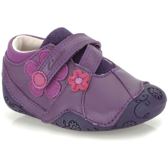 Clarks Dizi Dots Purple Leather
