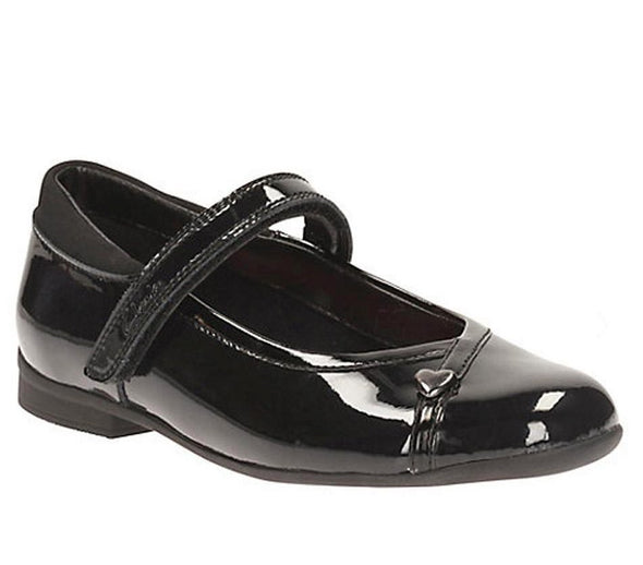 Clarks Dolly Babe Jnr Black Pat