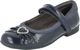 Clarks Dolly Dina Inf Navy Patent
