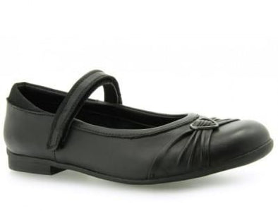 Clarks Dolly Heart Black Leather