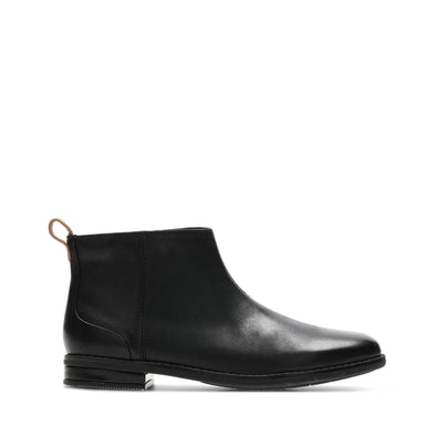 Clarks Drew Moon Black Leather