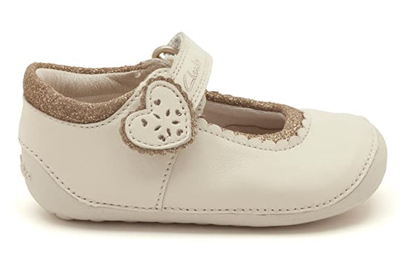 Clarks Ida Heart Cotton Leather