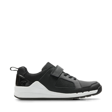 Clarks Orbit Ride.O Black Leather