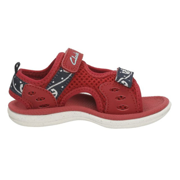 Clarks Piranha Boy Red Synthetic