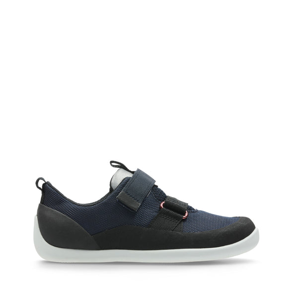 Clarks Play Pioneer Navy Synthetic