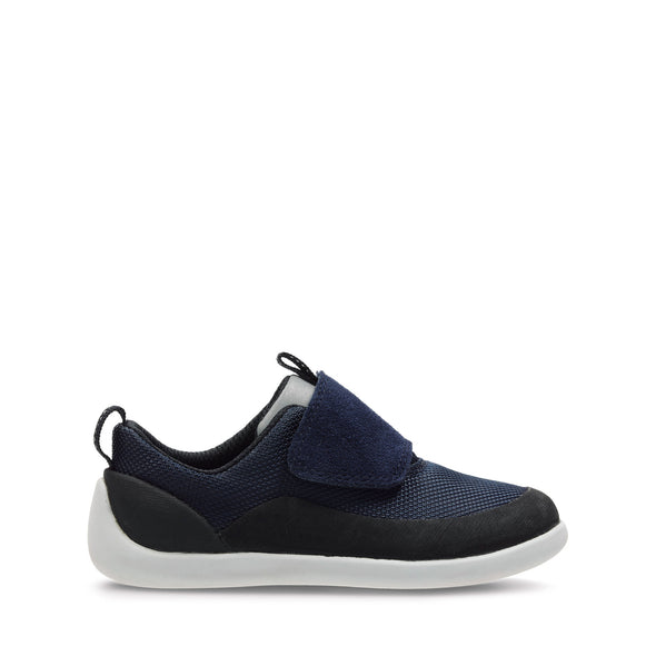 Clarks Play Spark Navy Synthetic