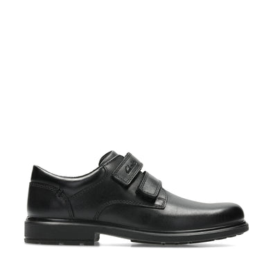 Clarks Remi Pace Jnr Black Leather