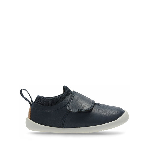 Clarks Roamer Seek Navy Leather