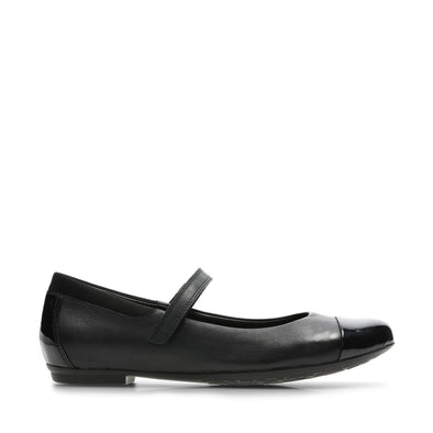 Clarks Tizz Talk Black Leather