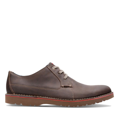 Clarks Vargo Plain Dark Brown Lea