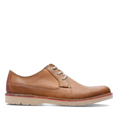 Clarks Vargo Plain Dark Tan Lea