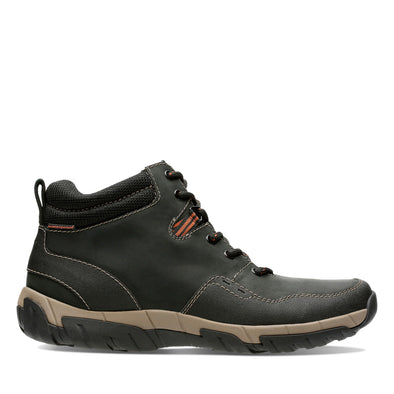 Clarks Walbeck Top II Black Leather