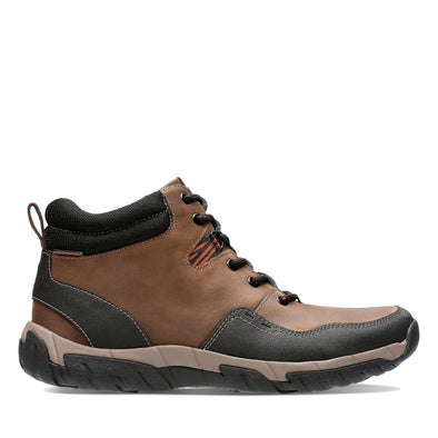 Clarks Walbeck Top II Brown Leather