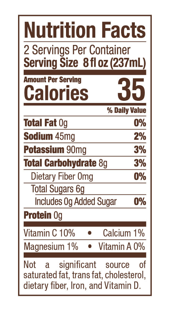 Berri Fit Nutrition Facts Mango