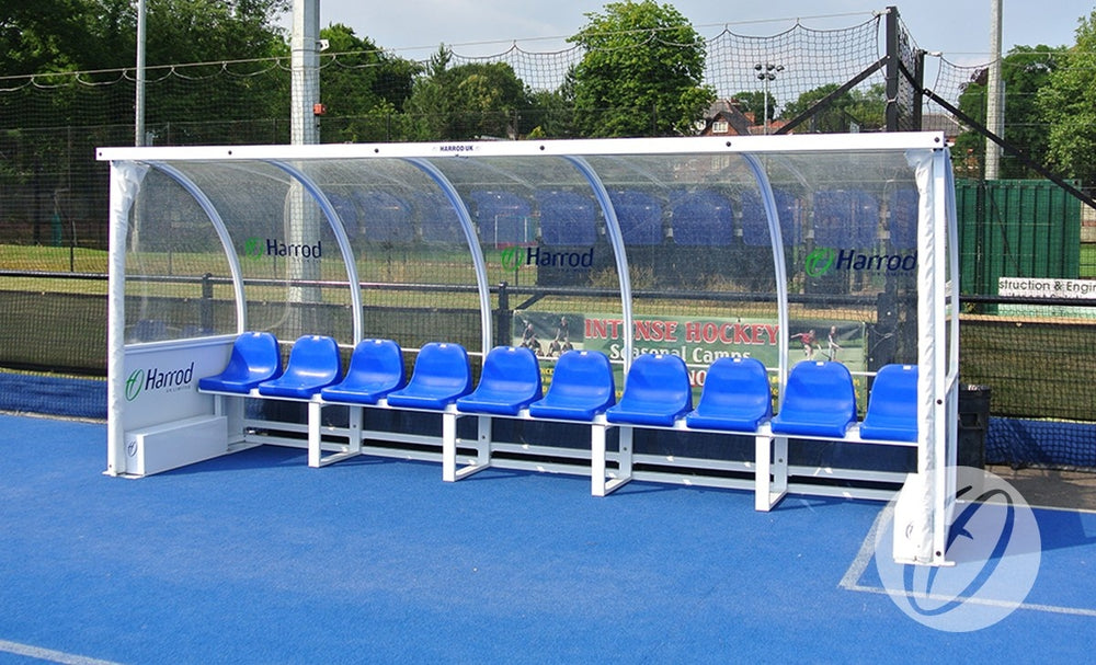 Premier Team Shelter - 5M Blue Seats Socketed