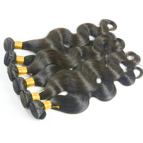 "11 Bundles Body Wave Human Hair 10"" - 30""  Brazilian, Malaysian, Peruvian & Indian - Mula Hair"