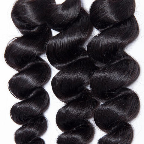 "11 Bundles Loose Wave Human Hair 10"" - 30""  Brazilian, Malaysian, Peruvian & Indian - Mula Hair"