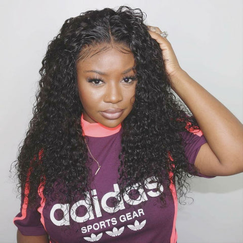 Mula Hair 180% Density Curly Brazilian Hair 360 Lace Frontal Human Hair Wig W35 - Mula Hair