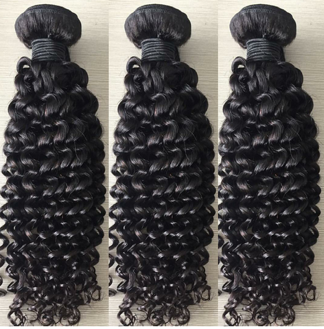 "11 Bundles Jerry Curly Human Hair 10"" - 30""  Brazilian, Malaysian, Peruvian & Indian - Mula Hair"