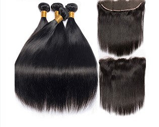 Brazilian Straight 4 Bundles & 1 Frontal - Mula Hair