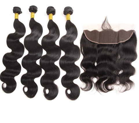 Peruvian Body Wave 4 Bundles & 1 Frontal - Mula Hair
